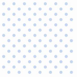 Serviette papier blanche pois bleus - Lot de 20