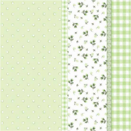 Serviettes papier vert patch liberty - Lot de 20