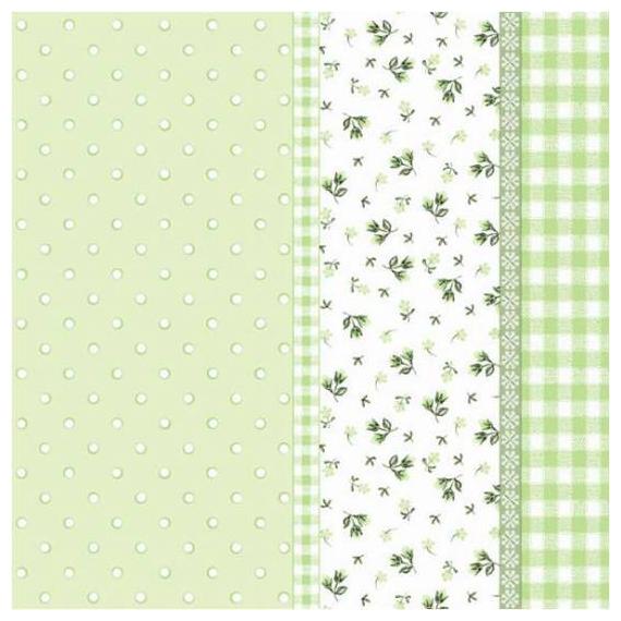 Serviettes papier vert patch liberty