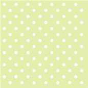 Serviettes papier vert pois blancs - Lot de 20
