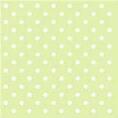 Serviettes papier vert pois blancs - Lot de 20
