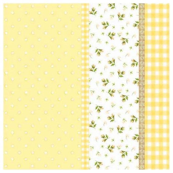 Serviettes papier jaune patch liberty - Lot de 20