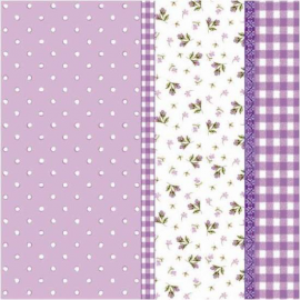Serviettes papier mauve patch liberty