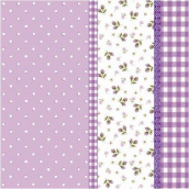 Serviettes papier mauve patch liberty - Lot de 20