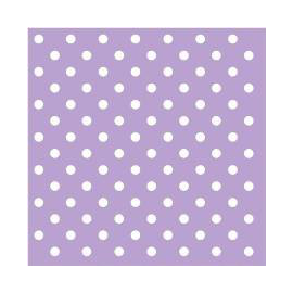 Serviettes papier mauve pois blancs - Lot de 20