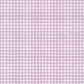 Serviettes papier vichy mauve - Lot de 20