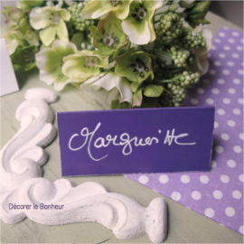 Marque-place chevalet violet - Lot de 10