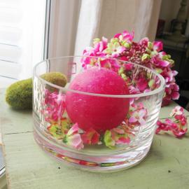 Vase verre cylindrique bas - Diamètre 15, Hauteur 8 cm