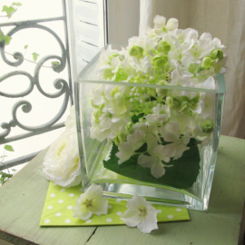 Vase verre carré - Hauteur 15, Largeur 15
