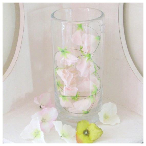 Vase verre cylindrique GM - Diamètre 10, Hauteur 22,5 cm