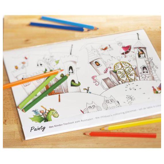 Set de table papier à colorier - Set de 12