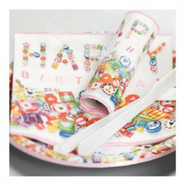 Serviettes papier Sweet Birthday