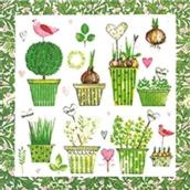 Serviettes papier Lovely garden - Lot de 20