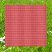 Centre de table papier vichy rouge - Sachet individuel