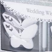 Cartes papillons arbre à voeux - Coffret 54 cartes avec ruban et stylo