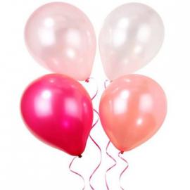 Ballons nuances pastel - Assortiment de 12 ballons et ruban