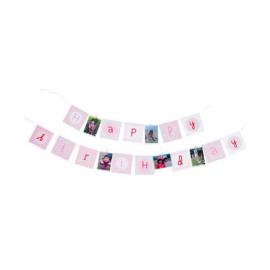 Guirlande de fanions Happy Birthday