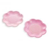 Assiettes gâteaux feston rose pois blancs - Lot de 8