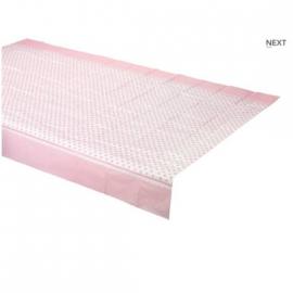 Nappe papier à pois roses - 1m 80