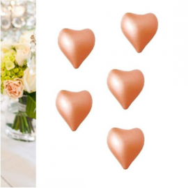 Perles de bain coeur rose nacré - Lot de 8
