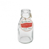 Bouteille lait verre vintage