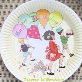 Assiettes les bons enfants - Lot de 8