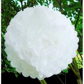 Pompoms papier blancs