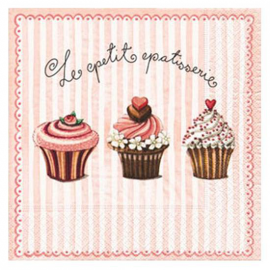 Serviette papier jolies patisseries - Lot de 20