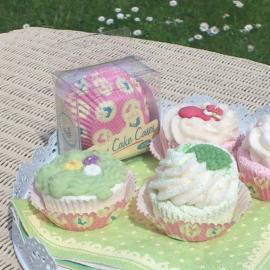 Caissettes cupcake roses décor oiseau - Lot de 60