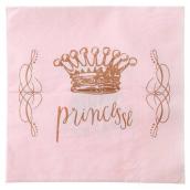 Serviette papier rose Pretty Princesse - Lot de 20