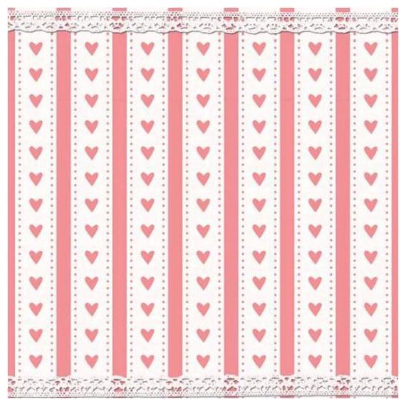 Serviettes papier coeur shabby dentelle - Lot de 20