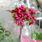 Bouquet de baies fuchsia