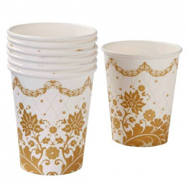 Gobelets jolie table gold - Lot de 12