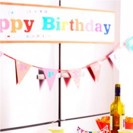 Bannière happy birthday pop color personnalisable