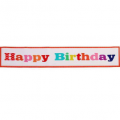 Bannière happy birthday pop color personnalisable