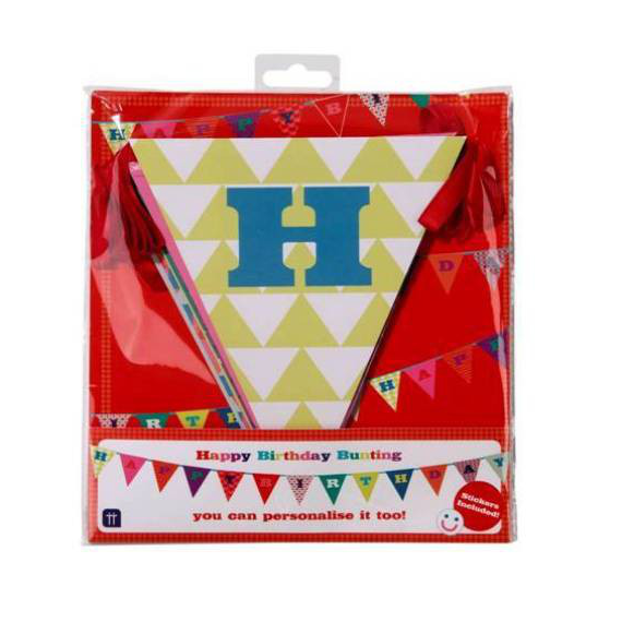 Guirlande de fanions happy birthday pop color personnalisable