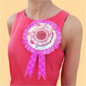 Decoration Rosette Bride to be
