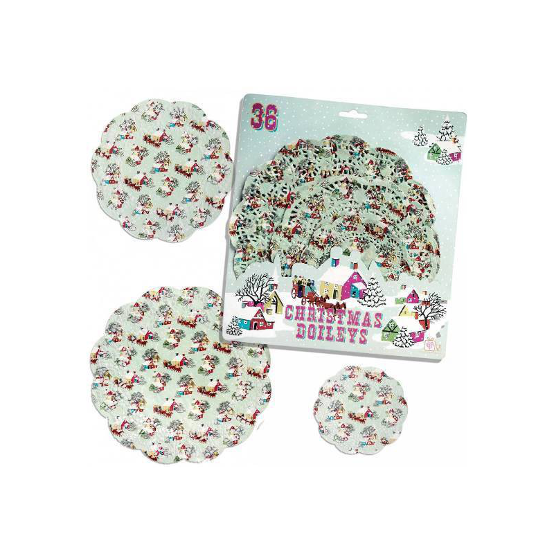 decoration buffet napperons papier no l r tro. Black Bedroom Furniture Sets. Home Design Ideas