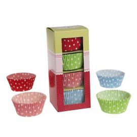 Caissette cupcake multi pois couleurs - Coffret de 100