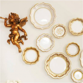 Assiettes jolie table gold