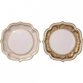 Plats Jolie table gold - Lot de 4