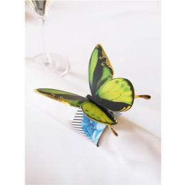 Rond de serviette papier féerie papillon - Lot de 8