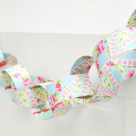Guirlande anneaux papier liberty joli