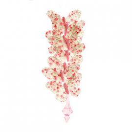 Guirlande papillons fleurettes liberty rose