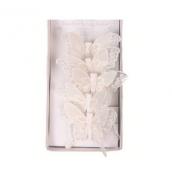 Guirlande papillons féerie perle blanc
