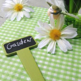 Etiquettes botanique ardoise vertes - Lot de 6