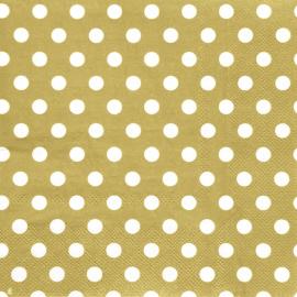 Serviettes papier pois or - 20 serviettes