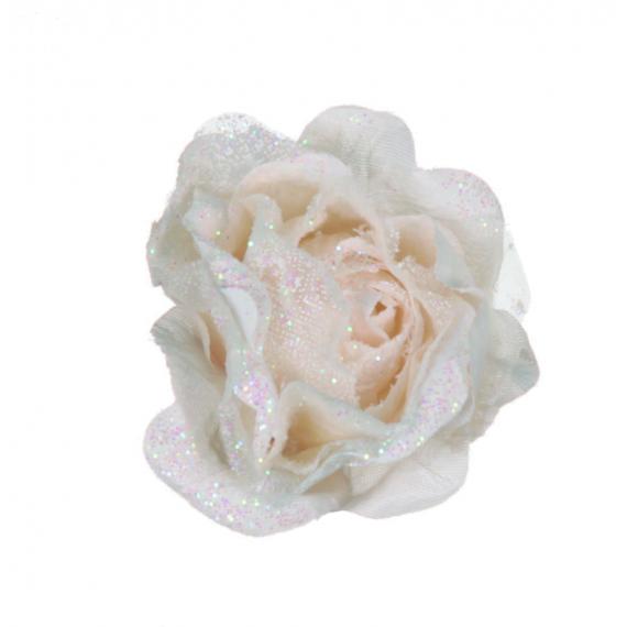 Roses anglaise sur pince vintage cream - sachet de 12