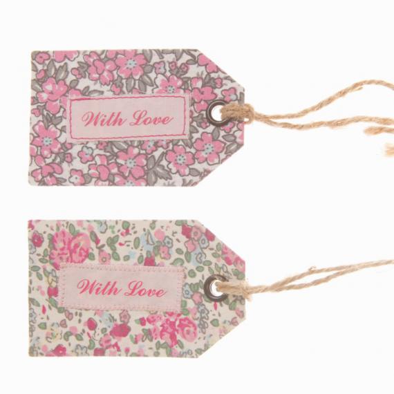 Etiquettes tissu liberty vintage