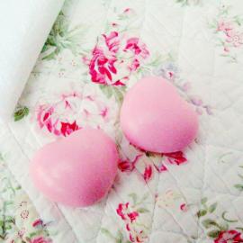 Savon coeur rose - Lot de 5